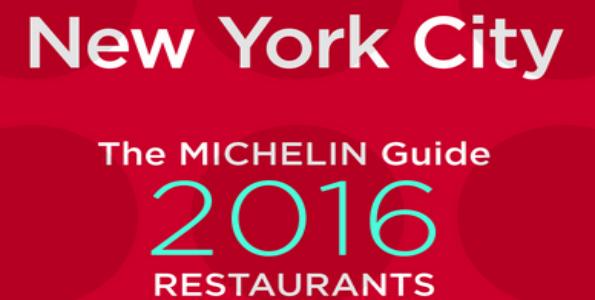 Nueva York ya tiene su guía Michelin 2016